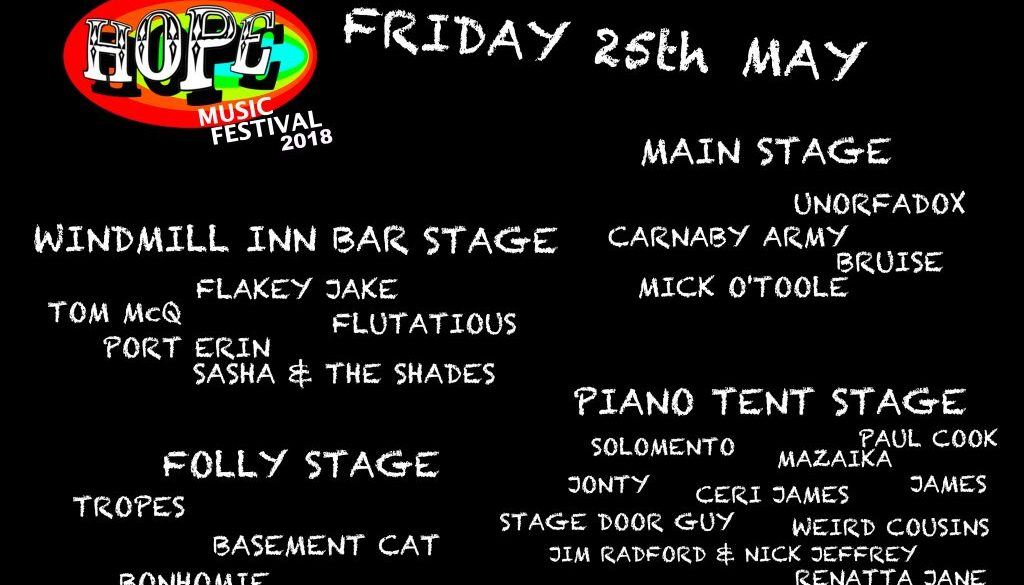 FRIDAY LINE-UP
