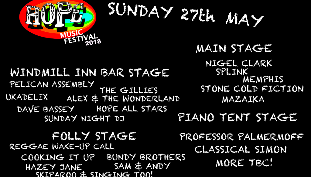 SUNDAY LINE-UP